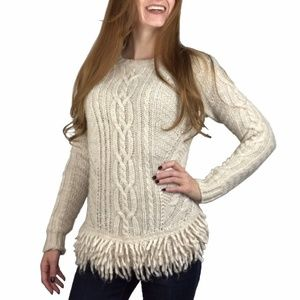 Banana Republic Sweater Women XS Italian Fringe